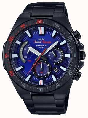 Casio Edifice toro rosso negro, plateado, azul, esfera, crono EFR-563TR-2AER