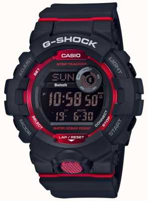 Casio Rastreador digital de pasos bluetooth rojo / negro G-squad GBD-800-1ER