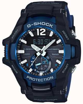 Casio G-shock gravitymaster bluetooth solar negro / azul de goma GR-B100-1A2ER
