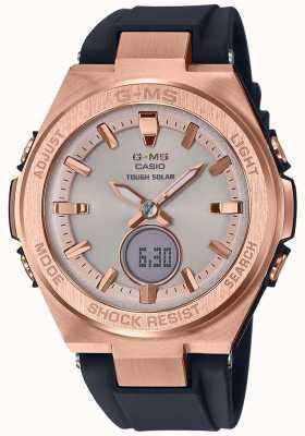 Casio Correa negra solar G-ms baby-g en oro rosa MSG-S200G-1AER