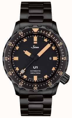 Sinn U1 se negro brazalete reloj tegiment 1010.023 BRACELET