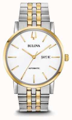 Bulova Reloj automático de dos tonos para hombre 98C130