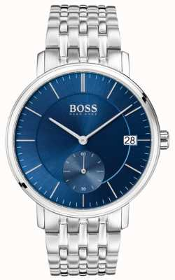 Hugo Boss Esfera corporal de acero inoxidable azul corporal 1513642