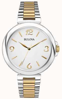 Bulova Reloj de dos tonos de acero inoxidable para mujer 98L194