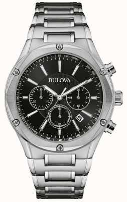 Bulova Reloj cronógrafo de acero inoxidable para hombre 96B247