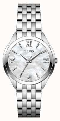 Bulova Reloj náutico de mujer de acero inoxidable 96L268