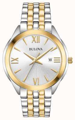 Bulova Reloj de hombre en dos tonos de acero inoxidable. 98B331