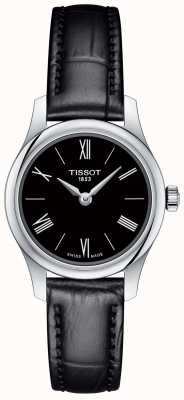 Tissot Womens tradition 5.5 black leather strap black dial T0630091605800