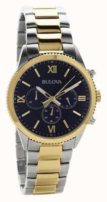 Bulova Reloj cronógrafo de dos tonos para mujer. 98A220