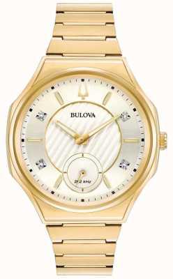 Bulova | curv | mujer | pulsera dorada | 97P136