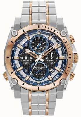 Bulova Reloj deportivo de acero inoxidable con precisión champlain para hombre 98B317
