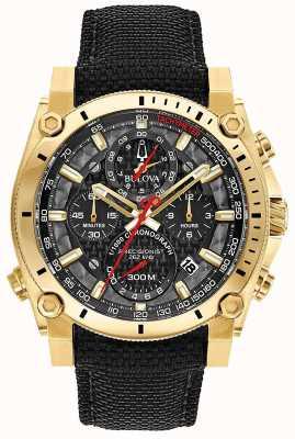 Bulova Reloj deportivo de precisión negro y dorado champlain deportivo para caballero 97B178