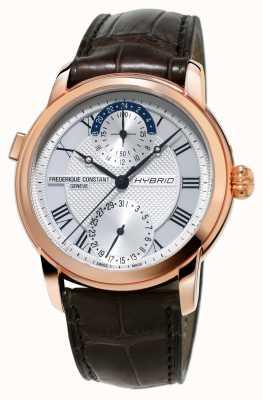 Frederique Constant Fabricación híbrida 3.0 correa de reloj automático smartwatch marrón FC-750MC4H4