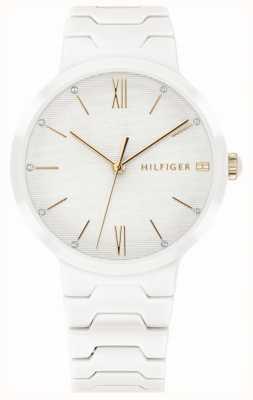 Tommy Hilfiger Pulsera de cerámica blanca para mujer avery reloj 1781956