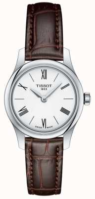 Tissot Womens tradition 5.5 lady watch correa de cuero marrón T0630091601800
