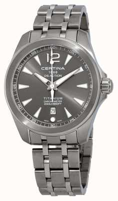 Certina Pulsera hombre ds action watch esfera gris titanio C0328514408700