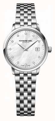 Raymond Weil Mujeres freelancer moher de perla dial reloj de diamantes 5626-ST-97081