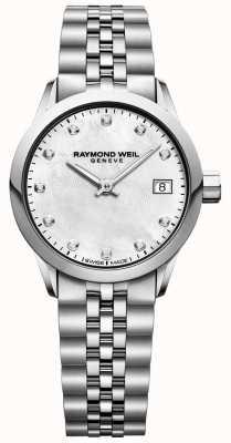 Raymond Weil Reloj freelance para mujer con esfera de nácar y diamantes. 5626-ST-97081