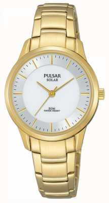 Pulsar Dial plateado solar plateado de las señoras PY5042X1