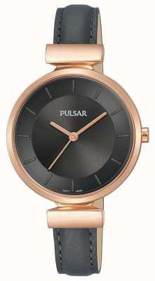 Pulsar Ladies plateó la correa chapada en oro rosa del caso de la caja plateada oro PH8420X1