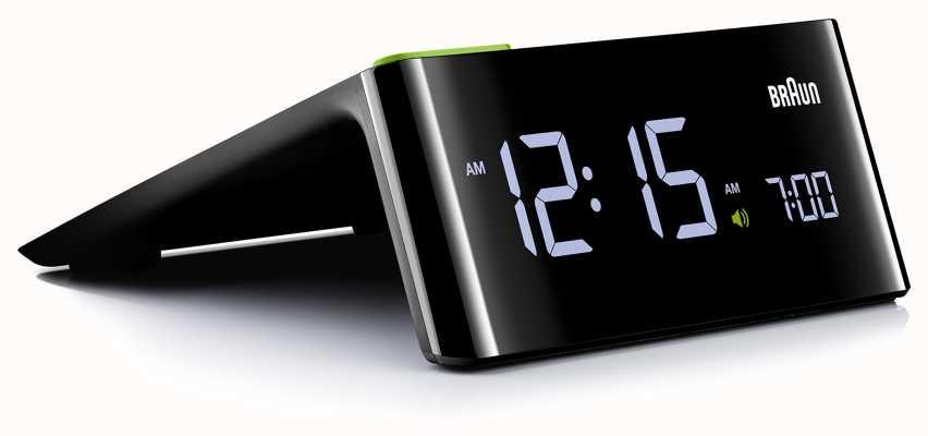 Braun Despertador de cabecera digital | pantalla LCD BNC016BKUK