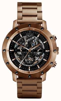 Weird Ape Icarus 3 dial pulsera de oro rosa / oro rosa negro WA02-005712
