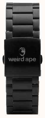 Weird Ape Pulsera de eslabones negros de 20 mm ST01-000002