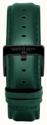 Weird Ape Hebilla de cuero verde oscuro de 20 mm con hebilla negra ST01-000075
