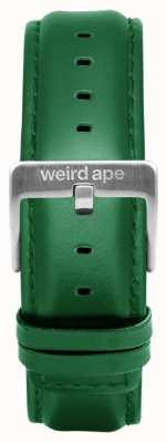 Weird Ape Correa de 20 mm de cuero esmeralda solo hebilla plateada ST01-000110