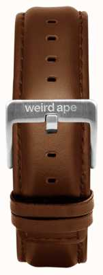 Weird Ape Hebilla de correa de cuero de roble 20mm plateado ST01-000099