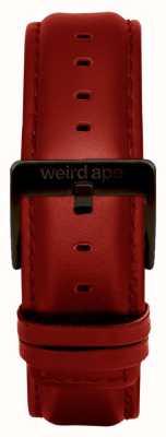 Weird Ape Correa de cuero roja de 20 mm con hebilla negra ST01-000077