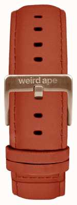 Weird Ape Correa de 20 mm de ante oxidado solo hebilla de oro rosa ST01-000094