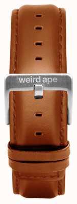 Weird Ape Hebilla de correa de cuero marrón de 20 mm ST01-000100