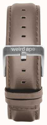 Weird Ape Hebilla de correa de cuero color avellana de 20 mm ST01-000101