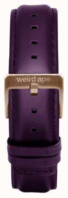 Weird Ape Hebilla de cuero correa de cuero de berenjena 16 mm ST01-000068