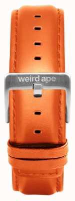 Weird Ape Correa de cuero naranja 20mm hebilla plata ST01-000111