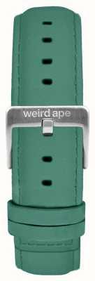 Weird Ape Hebilla de gamuza color verde jade de 16 mm plateado ST01-000060