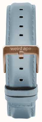 Weird Ape Hebilla de oro rosa con correa de piel de color azul pálido de 16 mm ST01-000029