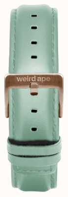 Weird Ape Correa de 16 mm de cuero verde menta solo hebilla de oro rosa ST01-000042
