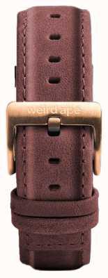 Weird Ape Correa de cuero rosa pastel de 16 mm solo hebilla de oro rosa ST01-000033