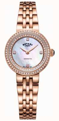 Rotary Reloj kensington de pulsera de oro rosa para mujer. LB05374/41