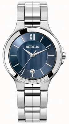 Michel Herbelin Reloj newport para hombre con esfera azul 12298/B15