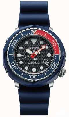 Seiko Hombres atun azul padi solar prospex buzos reloj SNE499P1