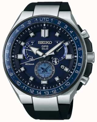 Seiko Mens gps astron solar reloj esfera azul SSE167J1
