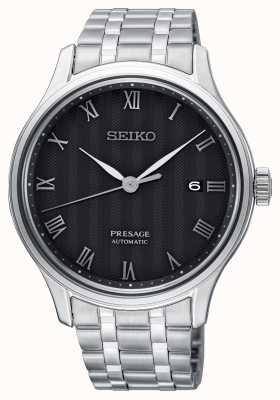 Seiko Presage pulsera de acero inoxidable con esfera negra automática para hombre SRPC81J1