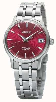 Seiko Presage reloj automático para mujer esfera roja acero inoxidable SRP853J1