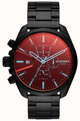 Diesel Mens ms9 reloj esfera de cristal iridiscente del cronógrafo DZ4489