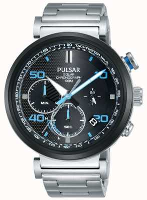 Pulsar Ex display - reloj cronógrafo solar de acero inoxidable para hombre PZ5065X1-EX-DISPLAY