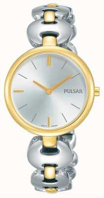 Pulsar Reloj de mujer con dos tonos de oro plateado PM2264X1