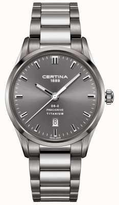 Certina Reloj de acero gris titanio precsrive para hombre ds-2 C0244104408120